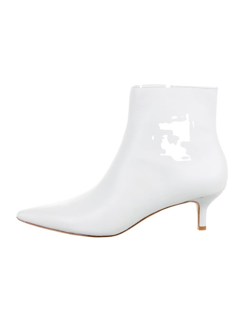Reformation Leather Boots White