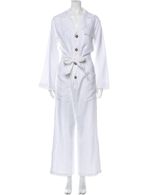 Reformation Linen Jumpsuit w/ Tags White