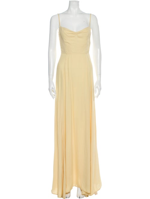 Reformation Thistle Long Dress Yellow