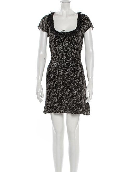 Reformation Sade Mini Dress Black