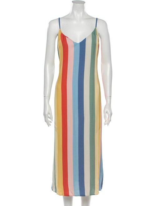 Reformation Striped Long Dress