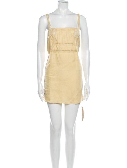 Reformation Linen Mini Dress Yellow