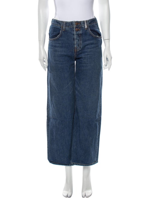 Reformation High-Rise Wide Leg Jeans Blue