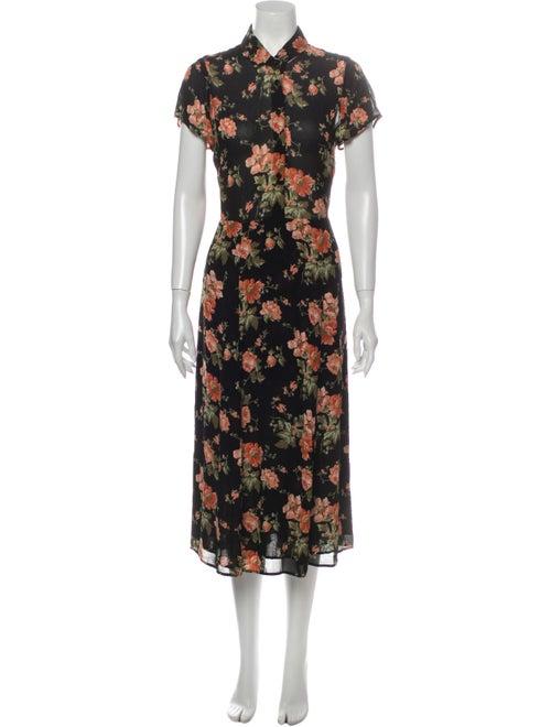 Reformation Floral Print Long Dress