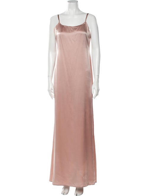 Reformation Silk Long Dress Pink - image 1