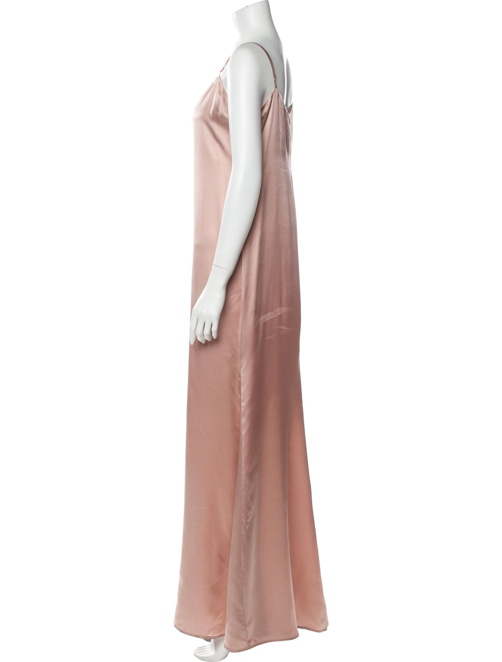 Reformation Silk Long Dress Pink - image 2