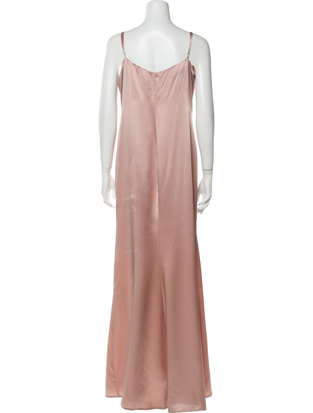 Reformation Silk Long Dress Pink - image 3