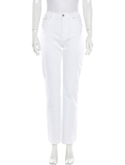 Reformation High-Rise Straight Leg Jeans White