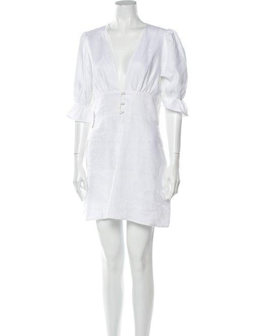 Reformation Linen Mini Dress White