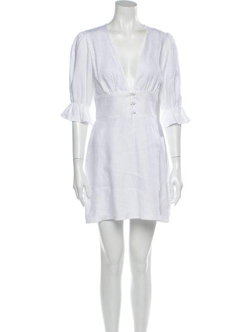 Reformation Linen Mini Dress White - image 1