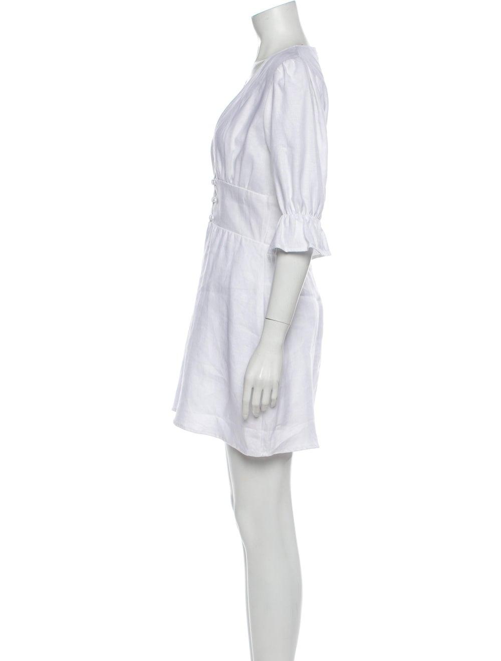 Reformation Linen Mini Dress White - image 2