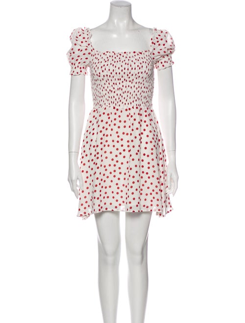 Reformation Orangerie Mini Dress White