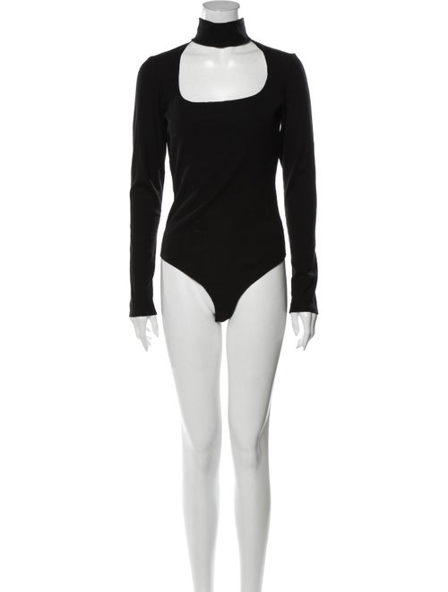 Reformation Turtleneck Long Sleeve Bodysuit Black