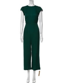 Reformation Emerald Crew Neck Jumpsuit