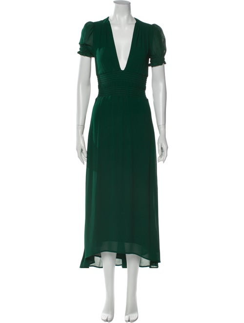 Reformation Emerald Long Dress w/ Tags Green