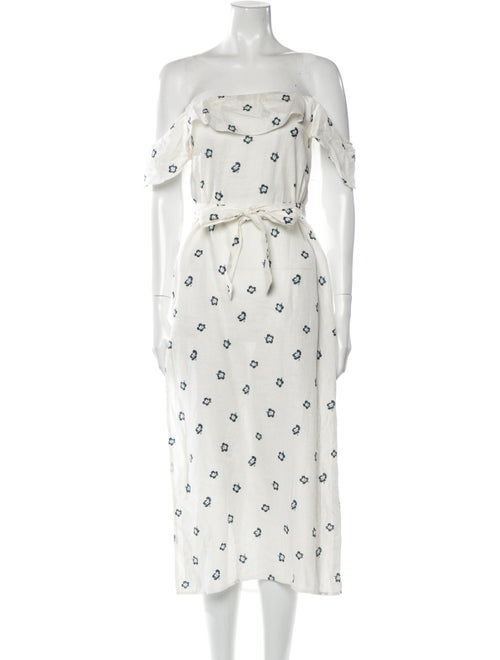 Reformation Linen Long Dress White - image 1