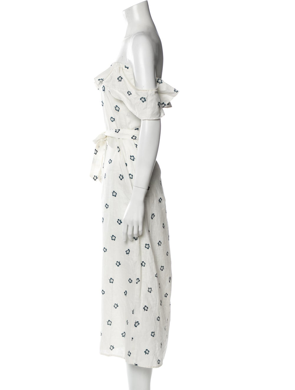 Reformation Linen Long Dress White - image 2