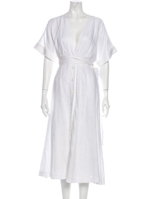 Reformation Linen Long Dress w/ Tags White - image 1