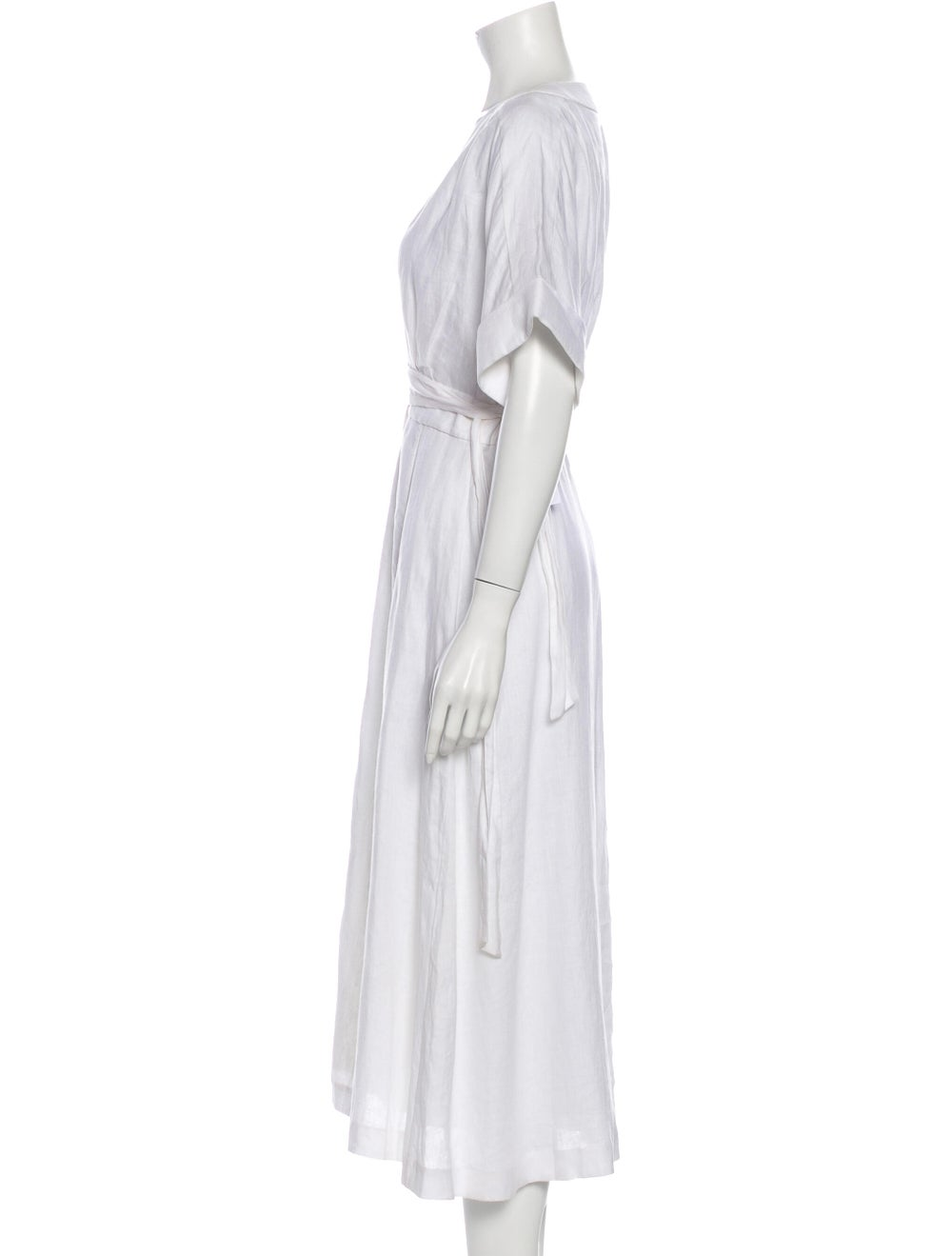 Reformation Linen Long Dress w/ Tags White - image 2