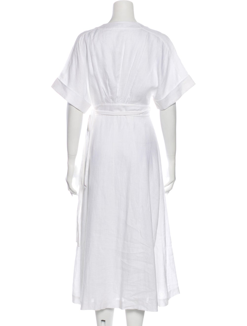 Reformation Linen Long Dress w/ Tags White - image 3