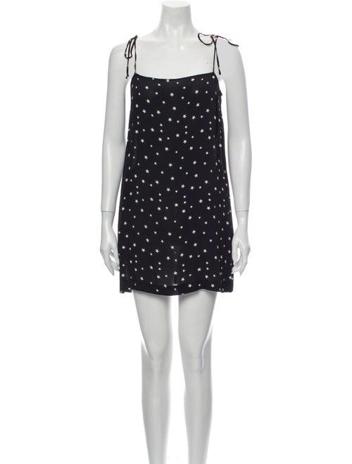 Reformation Printed Mini Dress Black