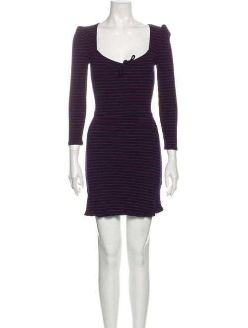 Reformation Striped Mini Dress Blue