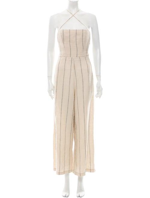Reformation Linen Striped Jumpsuit