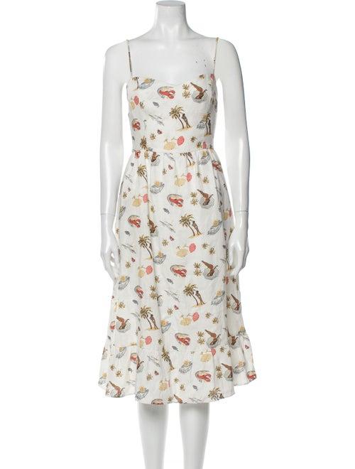 Reformation Linen Midi Length Dress