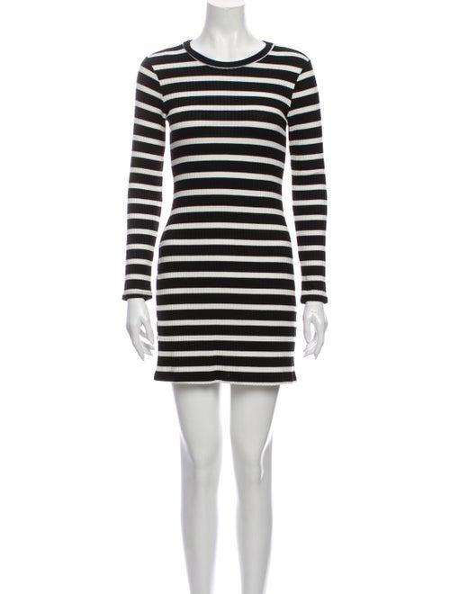 Reformation Striped Mini Dress Black