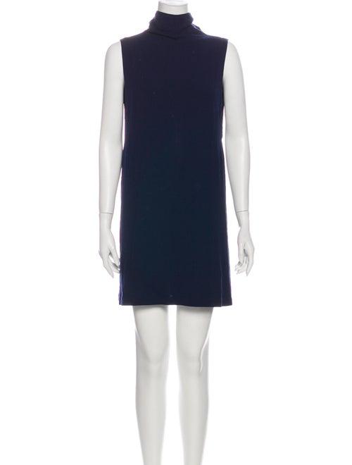Reformation Turtleneck Mini Dress Blue