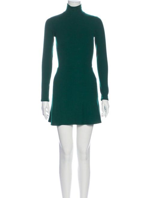 Reformation Turtleneck Mini Dress Green