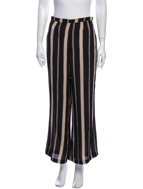 Reformation Striped Wide Leg Pants Black