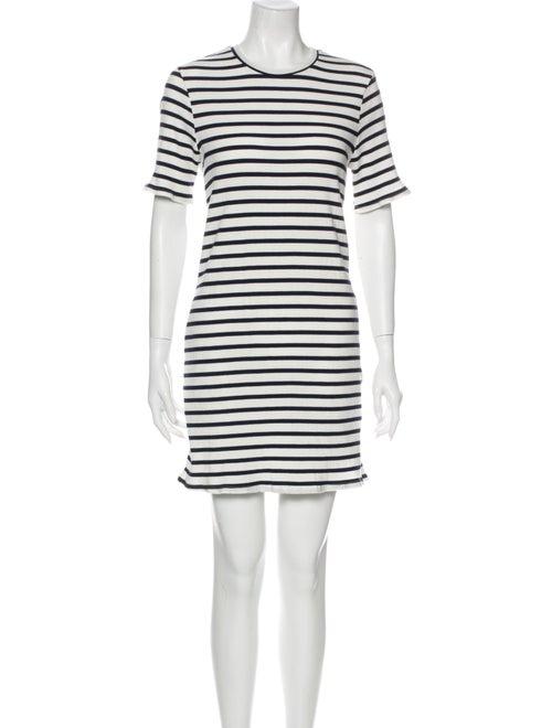 Reformation Striped Mini Dress White