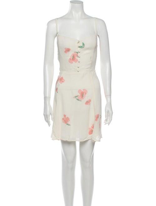 Reformation Floral Print Mini Dress