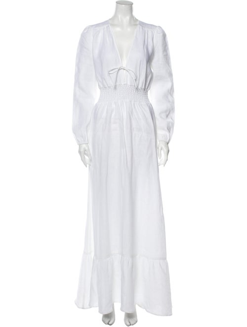 Reformation Linen Long Dress w/ Tags White