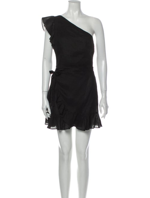 Reformation Linen Mini Dress Black