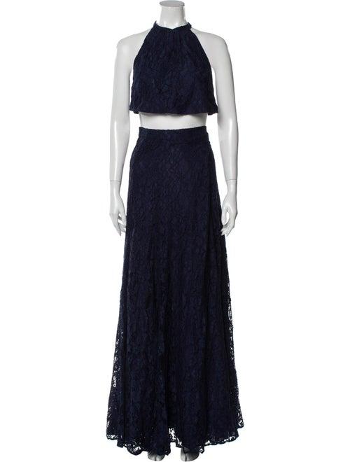Reformation Lace Pattern Long Dress w/ Tags White