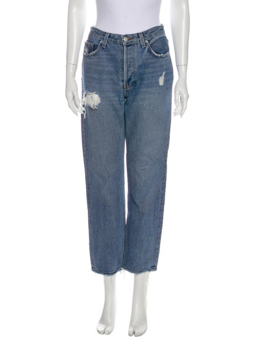 Reformation High-Rise Straight Leg Jeans Blue