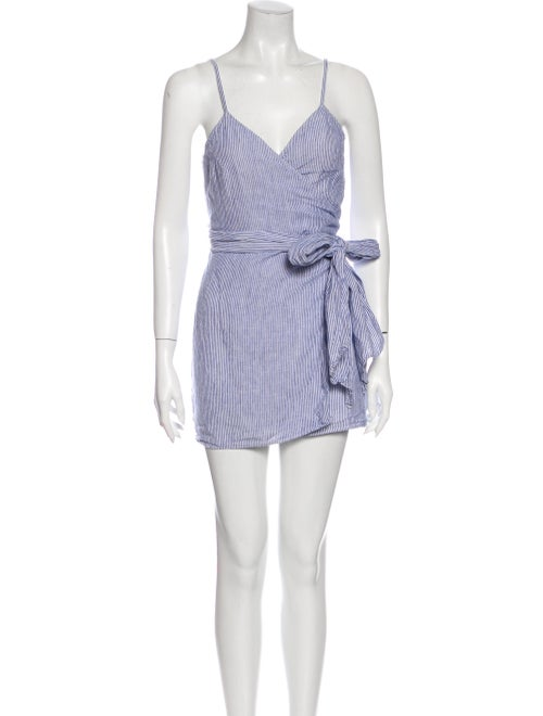Reformation Linen Mini Dress Blue