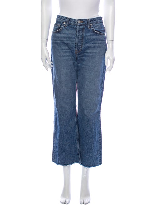 Reformation Mid-Rise Wide Leg Jeans Blue