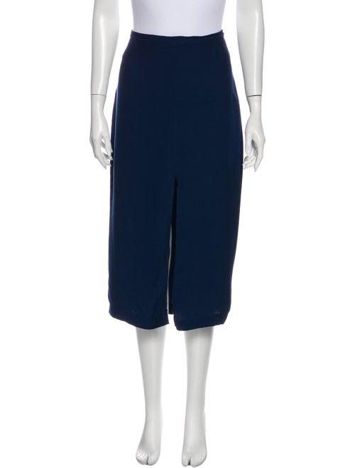 Reformation Midi Length Skirt Blue