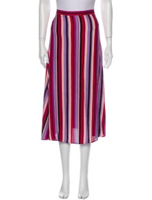 Reformation Striped Midi Length Skirt