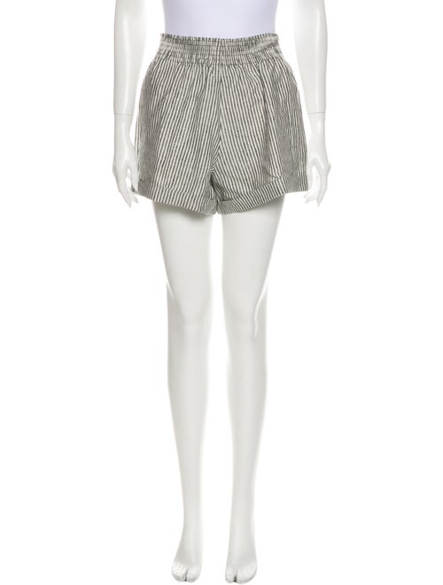 Reformation Linen Mini Shorts Grey