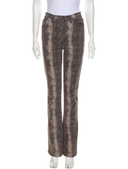 Reformation High-Rise Straight Leg Jeans Brown
