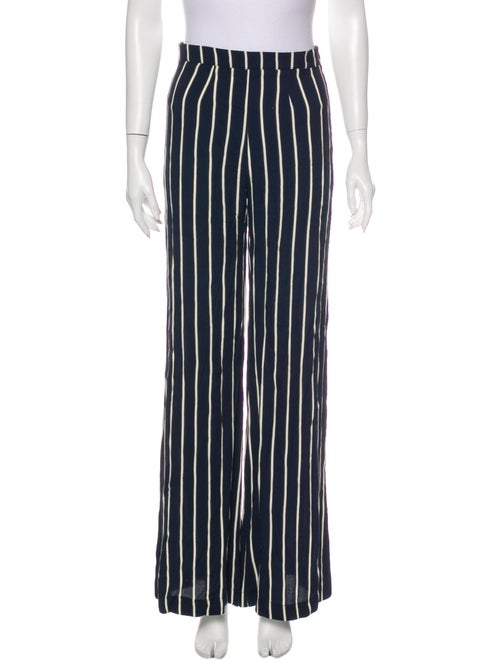 Reformation Striped Wide Leg Pants Blue
