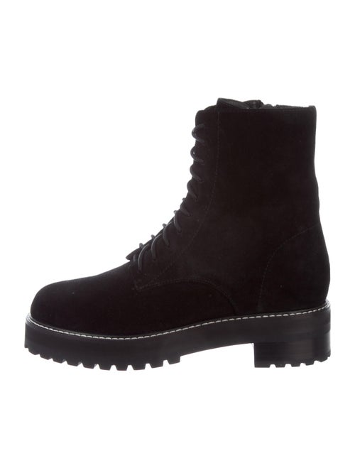 Reformation Suede Combat Boots Black