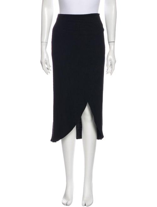 Reformation Midi Length Skirt Black
