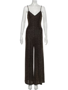 Reformation V-Neck Jumpsuit