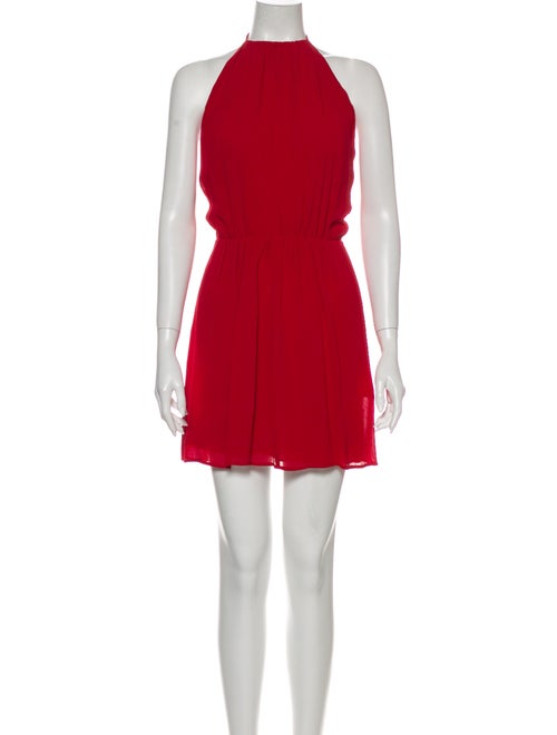 Reformation Halterneck Mini Dress Red