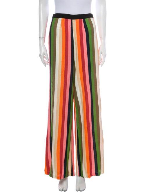 Reformation Striped Wide Leg Pants Pink